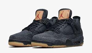 top fashion 2c676 14774 Image is loading Nike-Air-Jordan-4-Retro-NRG-Black-Denim-