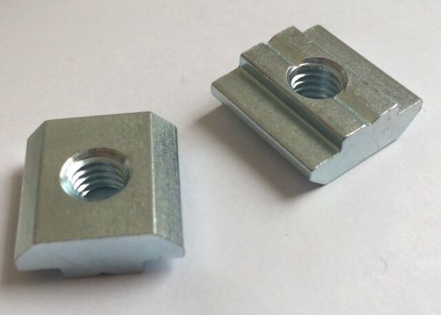 Pair Sliding T Track M6 Nuts For Jigs, Fixtures, Feather Boards, Router Table