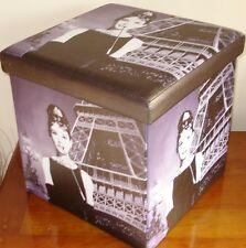 Audrey Hepburn Plegable Caja de almacenamiento con reposapiés