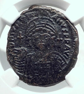 JUSTINIAN-I-the-GREAT-Ancient-Constantinople-Follis-Byzantine-Coin-NGC-i81453
