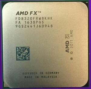 Amd Fx 8320 Black Edition Fd8320frw8khk 3 5ghz 8m 8 Core Unlocked