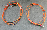 2 x LC To ST 50/125 Duplex Multimode Fibre Optic 2M Cable Orange
