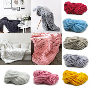 Home-Soft-Large-Chunky-Knitted-Thick-Blanket-Throw-Sofa-Blanket-Hand-Yarn-Woolen