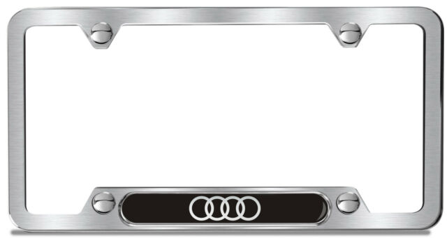 gift htm audi kit plate chrome license frame p quattro