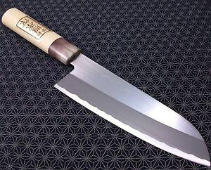 Japanese Santoku Kitchen Knife Teruhide Wooden Handle