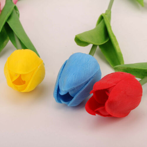 1//10Pcs Bouquet Artificial Latex Tulip Flowers Real Touch Bridal Wedding Supply