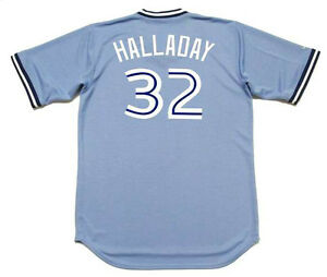 info for 86754 bcdde Details about ROY HALLADAY Toronto Blue Jays 2008 Majestic Throwback  Baseball Jersey