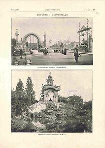 Exposition-universelle-Paris-Terrasse-Serres-Palais-Champ-de-Mars-GRAVURE-1900