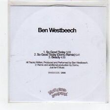 (FC898) Ben Westbeech, So Good Today - DJ CD