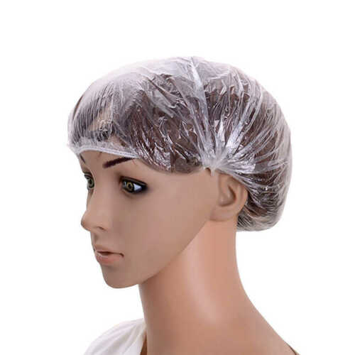 20 Pack Disposable Shower Caps Polythene Waterproof Hair Bath Travel DIY