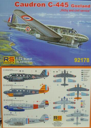 RS- Models Caudron C-445 Goeland  Vichy Spain,Yugoslavia Neuheit Plastik