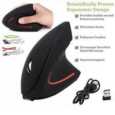 Ergonomische Optische Kabellose Vertikal Wireless Funk Maus 6 Tasten 1600 DPI