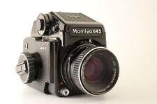 Mamiya M645J SLR Film Camera + 80mm f2.8 Lens + Prism Finder 120 Nice