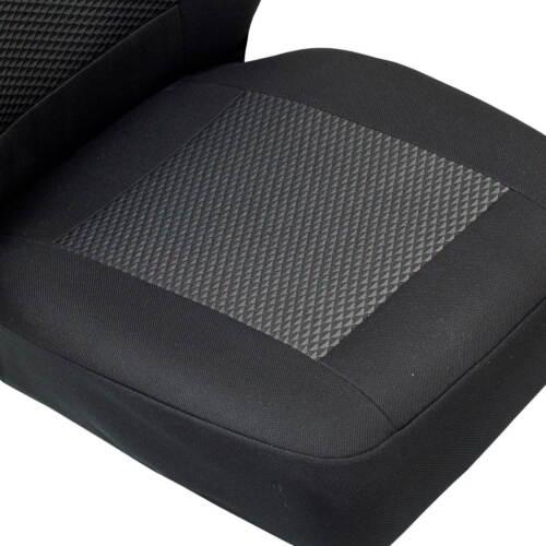 Schwarz-graue Dreiecke Sitzbezüge für PEUGEOT PARTNER  Autositzbezug SET 1+2