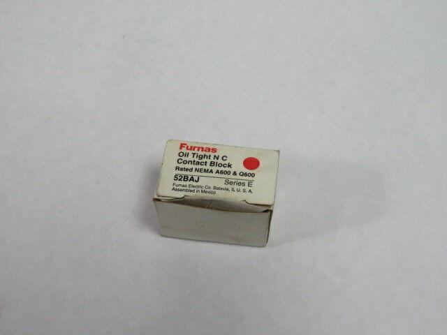 Furnas 52BAJ Contact Block 1NC 600V ! NEW !
