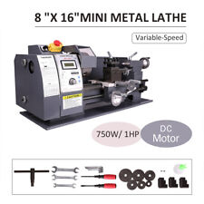 750w 8x16automatic Mini Metal Lathe Variable Speed Metalworking Milling Bench