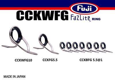 FUJI Fazlite ring CCKLFG KB6 SET20 Casting Rod Guides SET