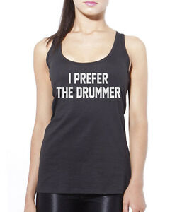 ece6e587a9cfc Image is loading I-Prefer-the-Drummer-Drumming-Gift-Womens-Vest-