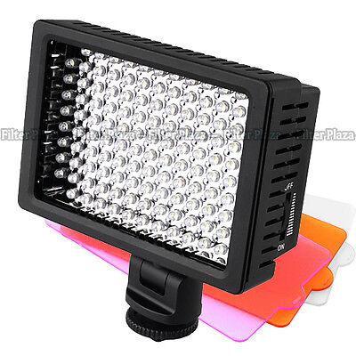 US Pro HD-160-LED Video Light Lamp for Canon Nikon Pentax DSLR Camera Camcorder