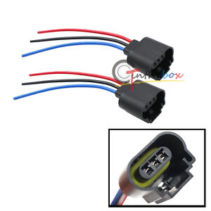 s l300 2) h13 9008 female adapter wiring harness sockets for headlights fog