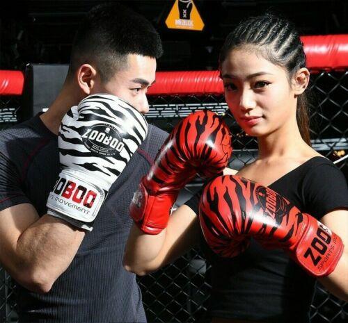 Erwachsene Boxen Fausthandschuh Handschuhe Tigermuster Training Kampf Boxsack