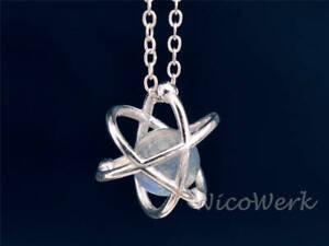 Silberkette-mit-Anhaenger-Atom-Mondstein-Mit-stein-Edelstein-Halskette-Damen-925