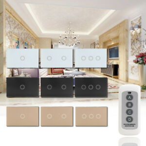 1-2-3Gang-Smart-Touch-Light-Switch-Crystal-Glass-Panel-Remote-Control-1-Way-a