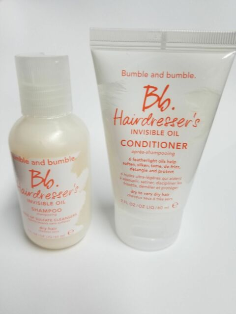 Bumble And Bumble Hairdresser's Invisible Oil Conditioner & Shampoo 2 Oz Travel
