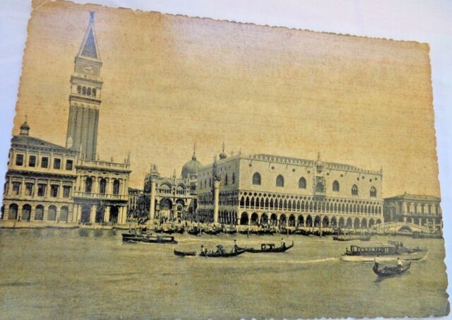 Vintage 1955 Postcard General View of Venice Black & white ...