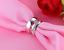 Anello-Anelli-Coppia-Fedi-Fede-Fedine-Fidanzamento-Acciaio-Cristallo-Paio-Regalo miniatura 4