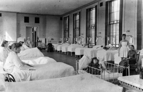 Boston City Hospital Photo women/'s ward ca 1890