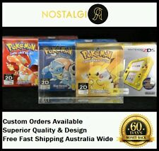 3× BOX PROTECTOR FITS NINTENDO 2DS POKEMON CONSOLE BOX / HIGH QUALITY THICK PET