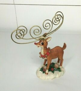 Vintage-Ceramic-The-Rudolph-Company-Christmas-Figurine-Red-Nose