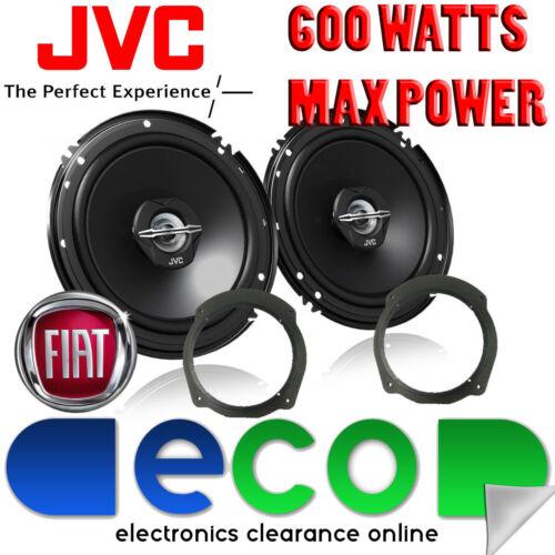 Fiat Bravo 2007-2014 Jvc 16cm 6,5 Pulgadas 600 Watts 2 Vías De Puerta Trasera altavoces del coche