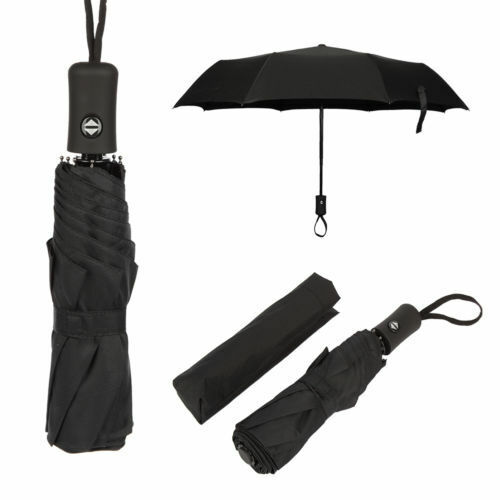WUHAN1 Green Black Pattern Chevron Automatic Tri-fold Umbrella Inside Print One Size