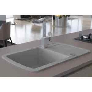 Details About Vidaxl Granite Kitchen Sink Single Basin Grey Overmount With Basket Strainer