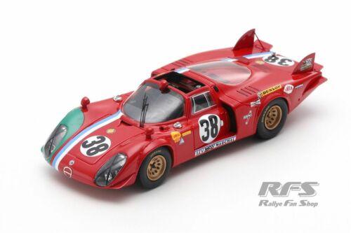 Alfa Romeo T33//2 VDS 24h Le Mans 1969 Gosselin Bourgoignie  1:43 Spark 8801 NEU