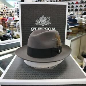 8cd2bef4f6a Image is loading STETSON-TEMPLE-CARIBOU-FUR-FELT-FEDORA-DRESS-HAT