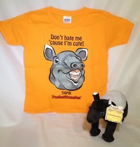 WOW-SALE-NOW-Malayan-Tapir-Stuffed-Animal-amp-T-Shirt-Gift-Set-by-PocketFuzzies