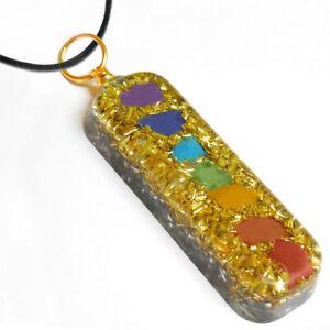 Orgonite Shungite Copper Pendant Positive Energy Chakra Balance Reiki Necklace