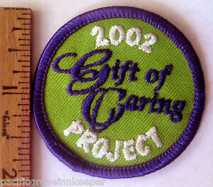 Image is loading Girl-Scout-2002-COOKIE-SALE-GIFT-OF-CARING-