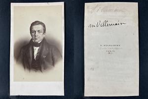 Desmaisons, Paris, Abel Villemain Vintage cdv albumen print.Abel François Vill