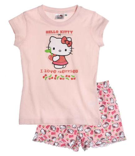 Le ragazze NUOVO DI ZECCA UFFICIALE Sanrio Hello Kitty Pigiama Corto Estivo 3 4 5 6 7 8 anni