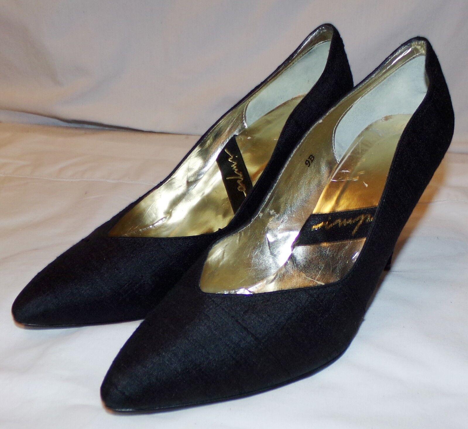 Impo Classic Black Heels Pumps Womens 9B 9 B shoes