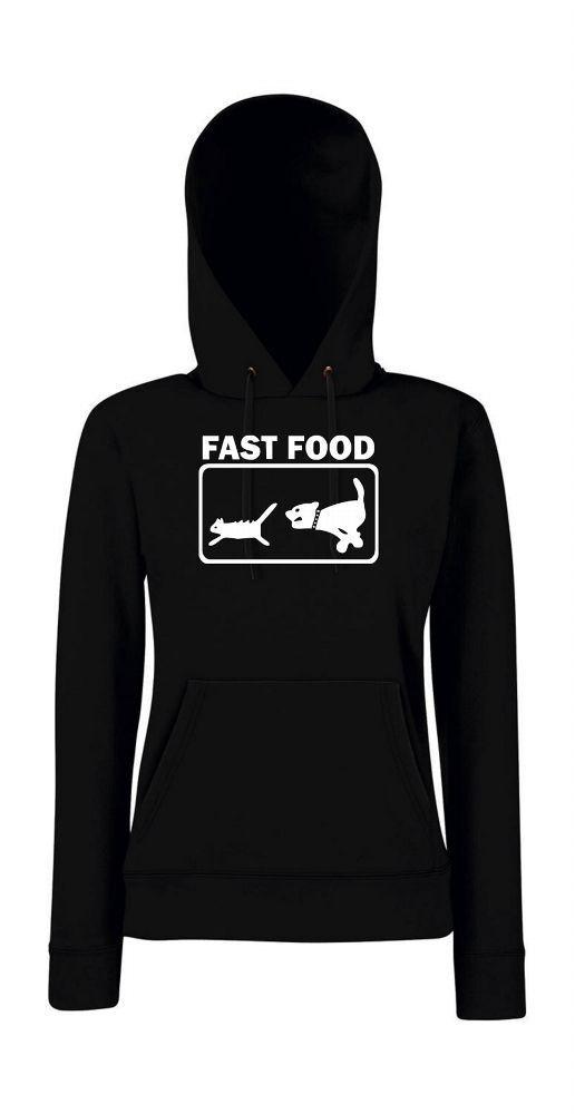 Fast Food Femenino Jersey Capucha