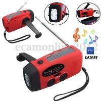 Wind Up/ Solar/ Dynamo Powered AM/FM Radio& LED Flashlight Torch & Phone Charger