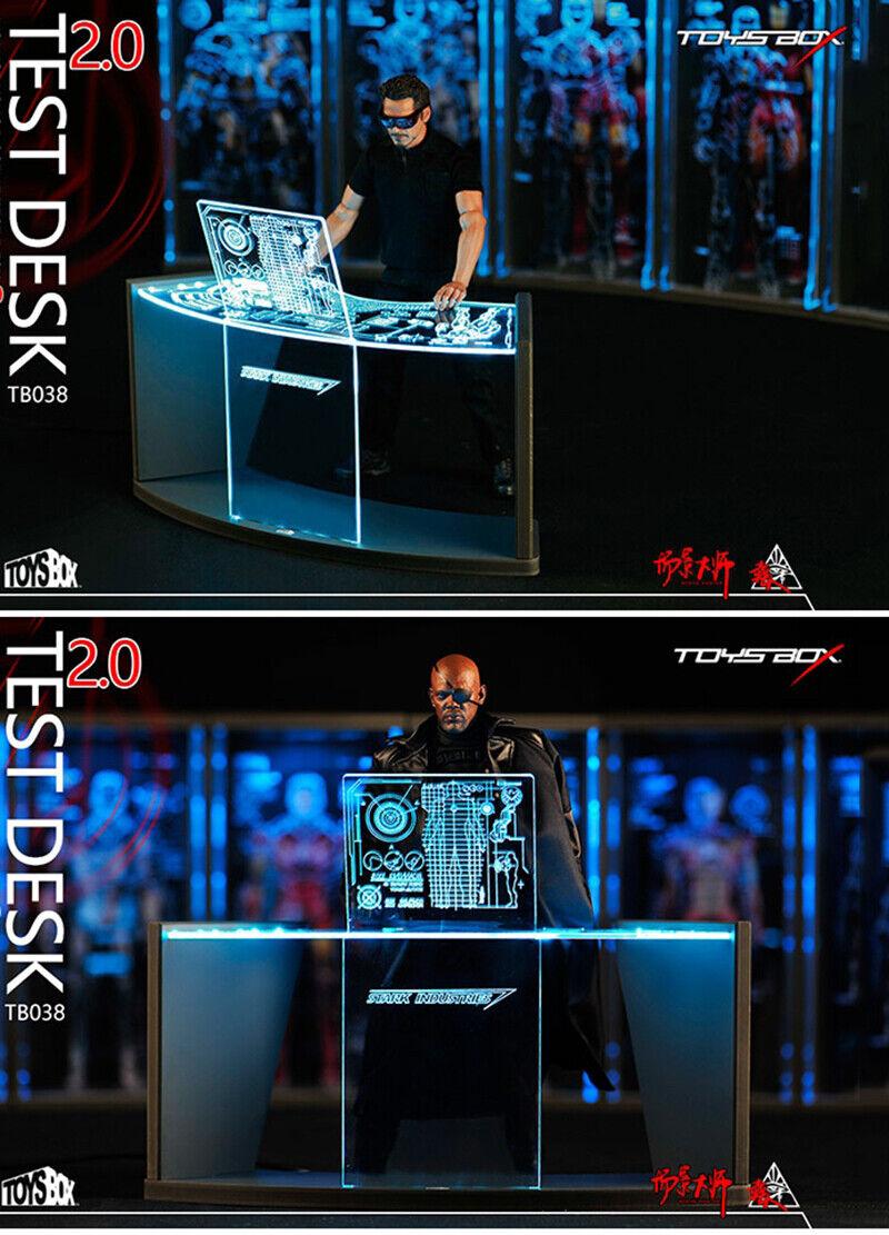 1 6 Caja De Ron Hombre escena taller ITOYS Prueba de escritorio 2.0 F 12  escena de ciencia ficción