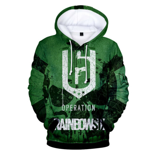 RAINBOW SIX SIEGE Cosplay Hoodies Men/'s Casual Sweatshirt Pullover Sports Coat