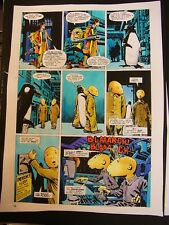 Dr Who Original Painred Artwork ( NOT PRINT) Voyager Colin Baker john ridgway 74