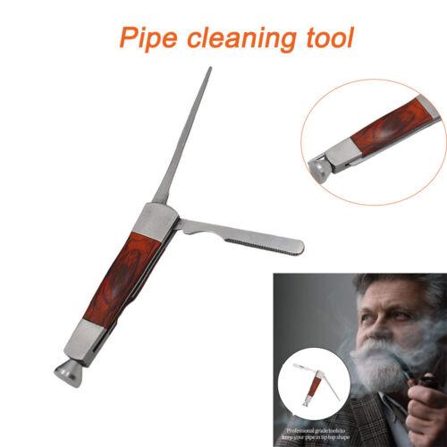 Edelstahl Holz Tabak Pfeifen Reinigung Reiniger Stopfer Pfeifenbesteck Tamper